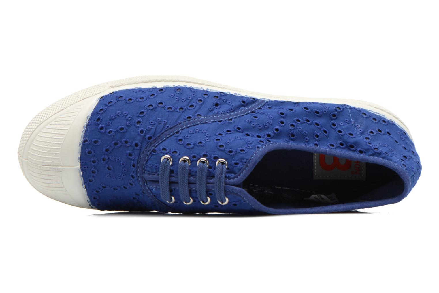Trainers Bensimon Tennis Broderie Anglaise Blue view from the left