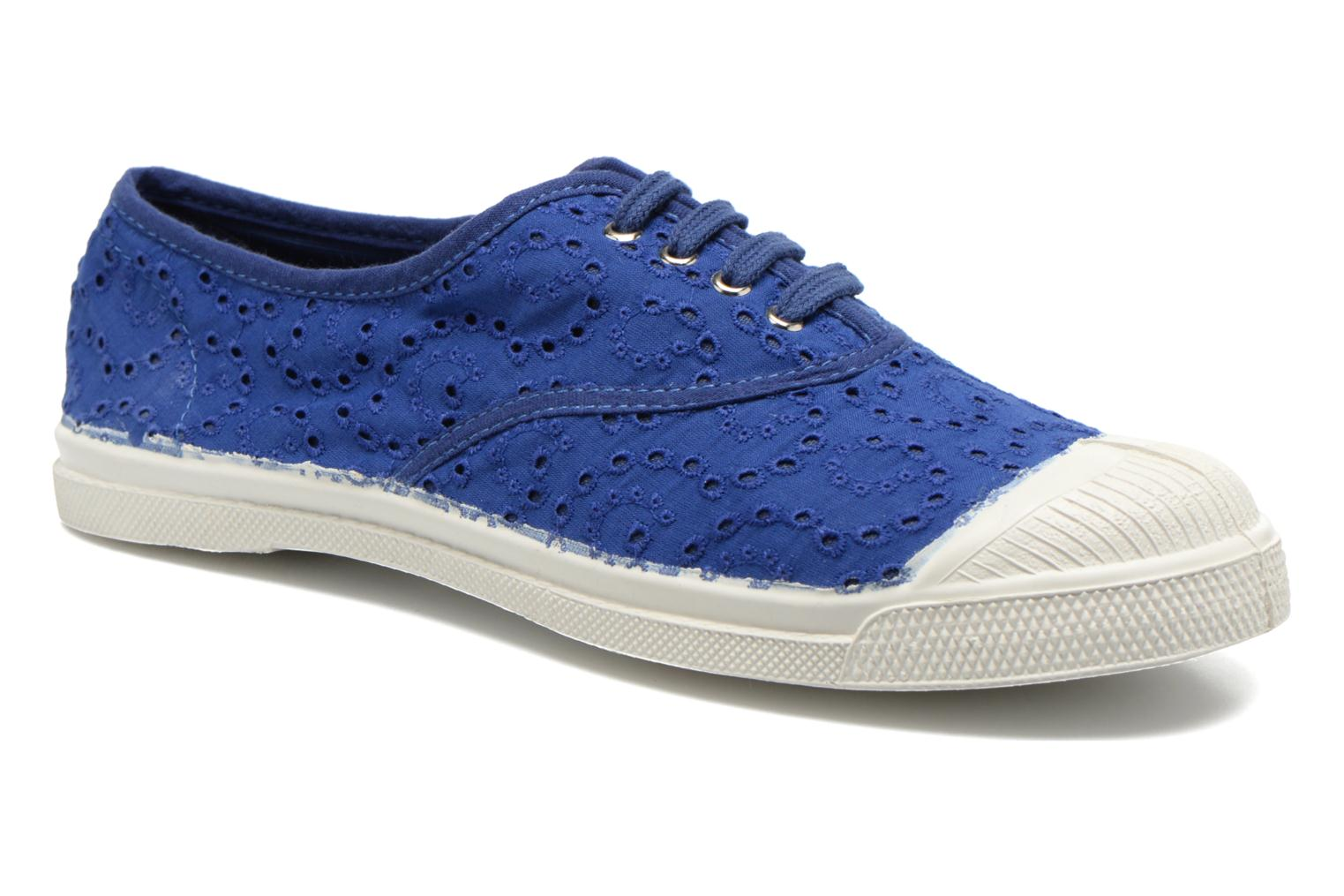 Trainers Bensimon Tennis Broderie Anglaise Blue detailed view/ Pair view