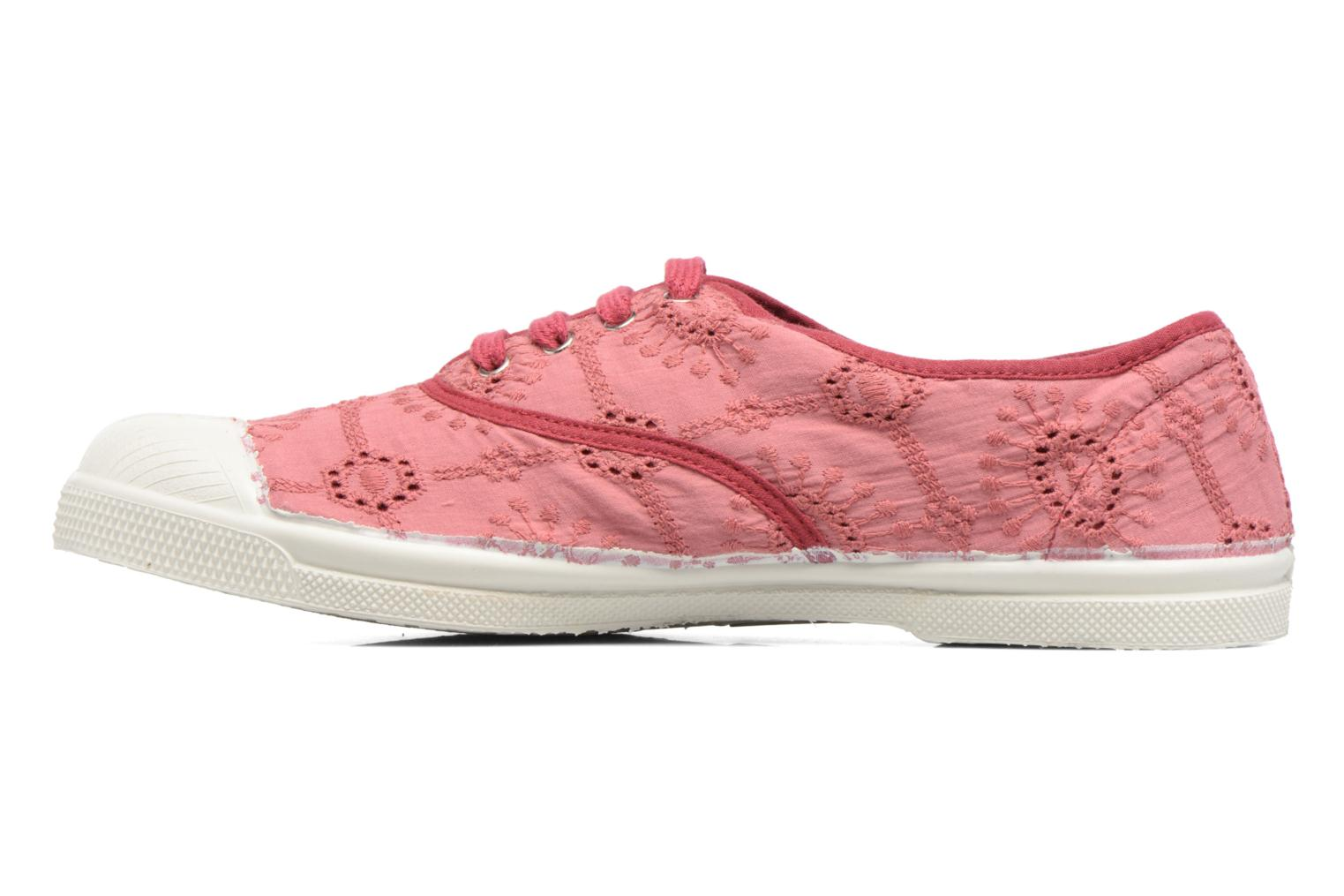 Trainers Bensimon Tennis Broderie Anglaise Pink front view