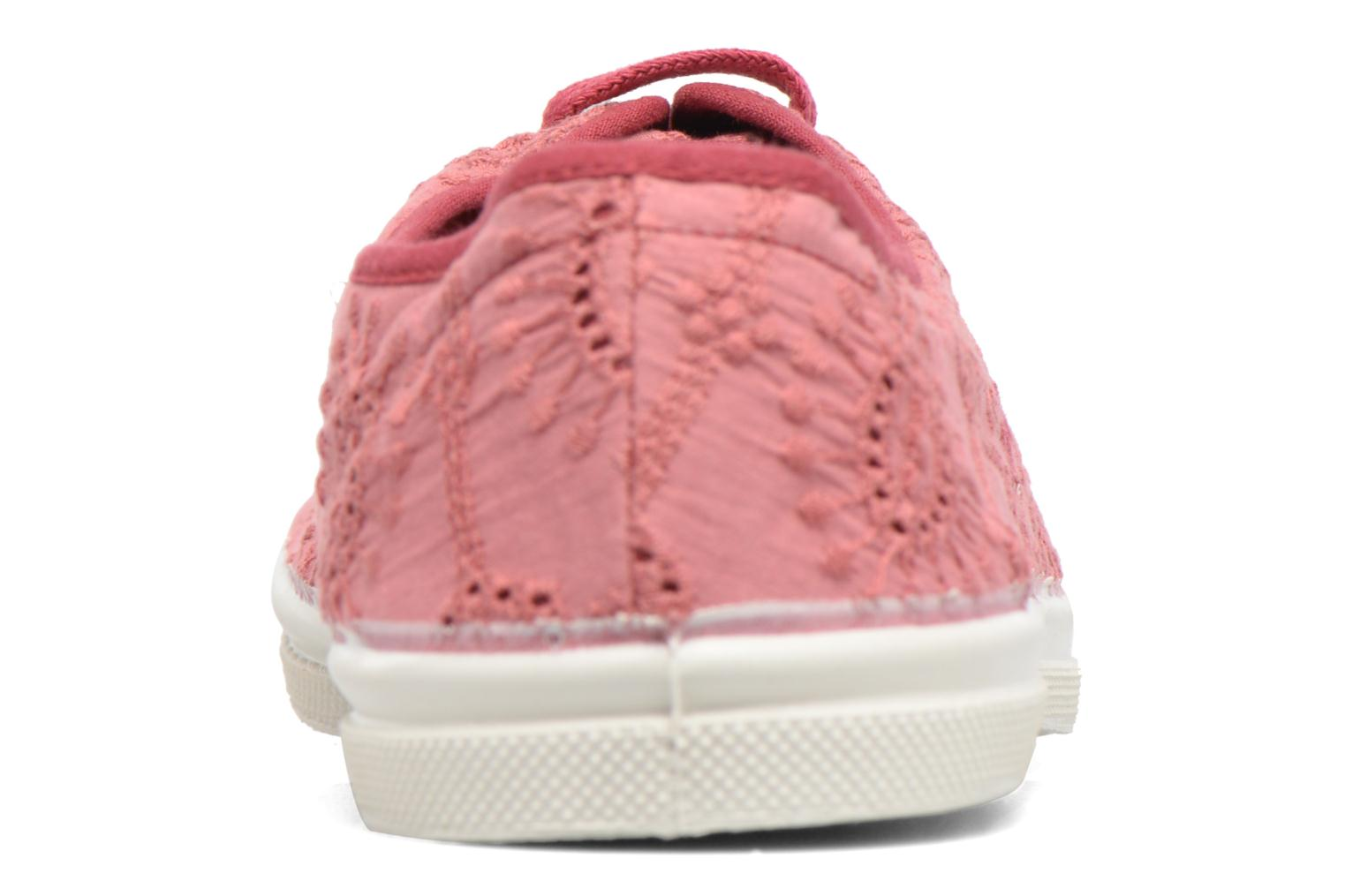 Trainers Bensimon Tennis Broderie Anglaise Pink view from the right