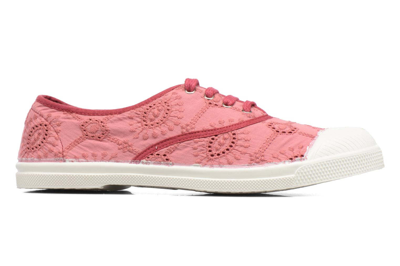 Trainers Bensimon Tennis Broderie Anglaise Pink back view