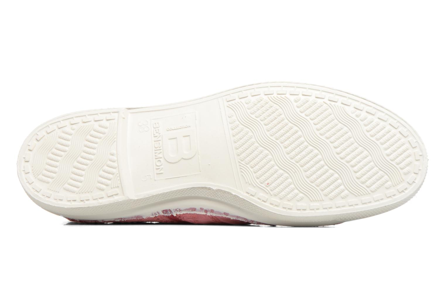 Trainers Bensimon Tennis Broderie Anglaise Pink view from above