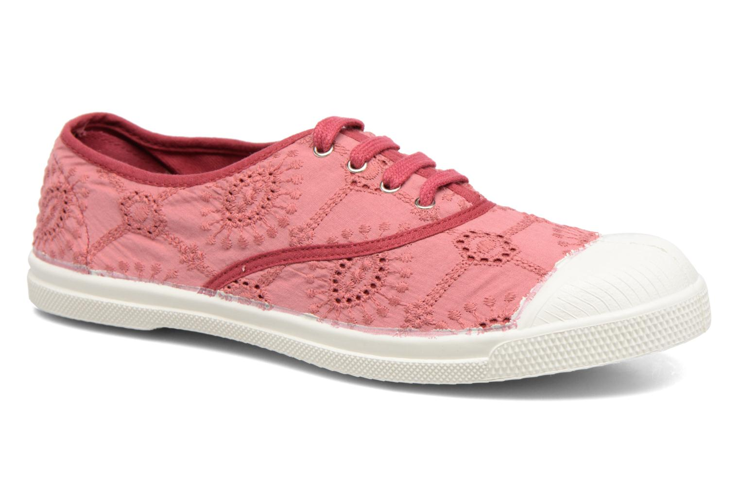 Trainers Bensimon Tennis Broderie Anglaise Pink detailed view/ Pair view