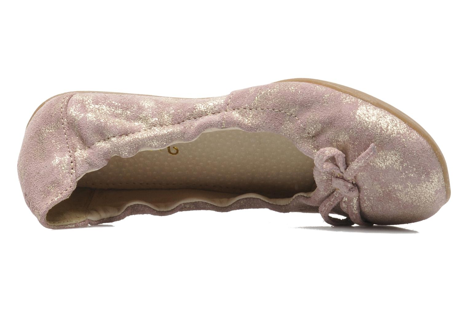 Ballet pumps Ramdam by GBB LISBONNE Pink view from the left