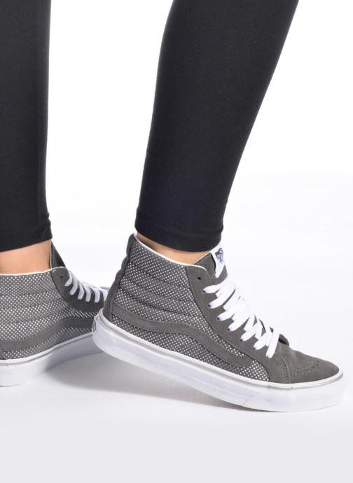 b00f0141e5 Sneaker Vans Sk8-Hi Slim W weiß ansicht von unten   tasche getragen