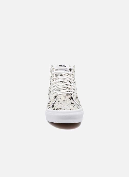 Baskets Vans Sk8-Hi Slim W Gris vue portées chaussures