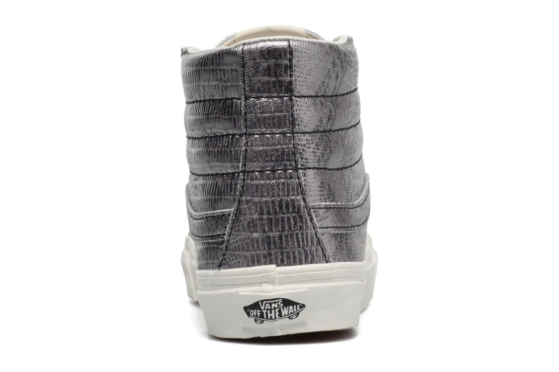Baskets Vans Sk8-Hi Slim W Argent vue droite
