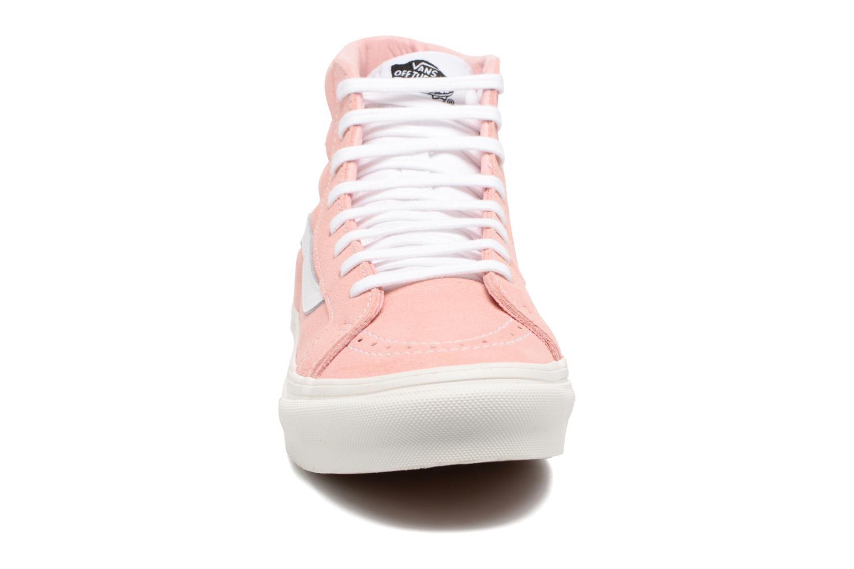 Baskets Vans Sk8-Hi Slim W Rose vue portées chaussures