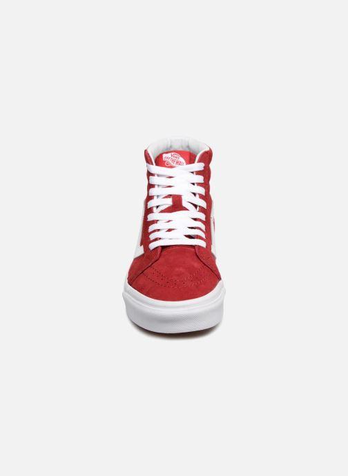 Deportivas Vans Sk8-Hi Reissue W Rojo vista del modelo