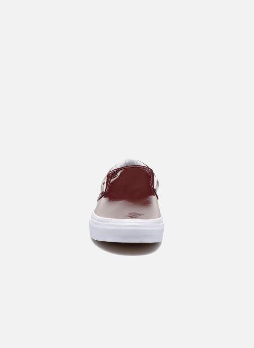 Baskets Vans Classic Slip-On W Bordeaux vue portées chaussures
