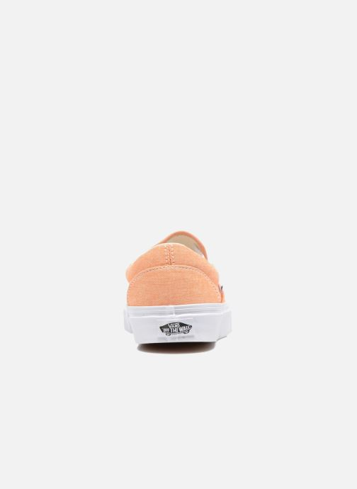 Baskets Vans Classic Slip-On W Orange vue droite