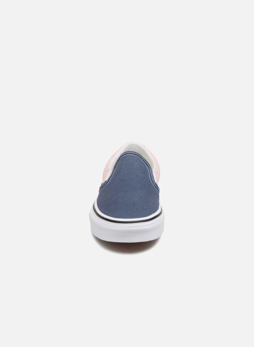 Baskets Vans Classic Slip-On W Bleu vue portées chaussures