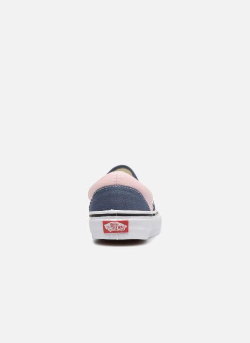 Baskets Vans Classic Slip-On W Bleu vue droite