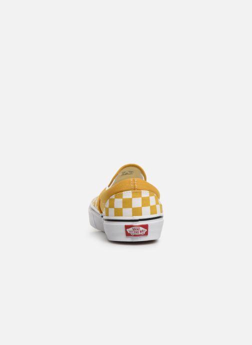 Baskets Vans Classic Slip-On W Jaune vue droite