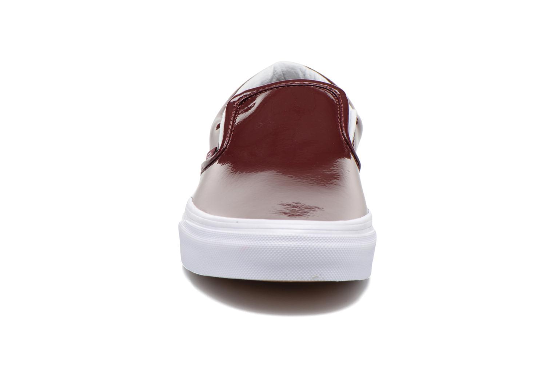 Sneaker Vans Classic Slip-On W weinrot schuhe getragen