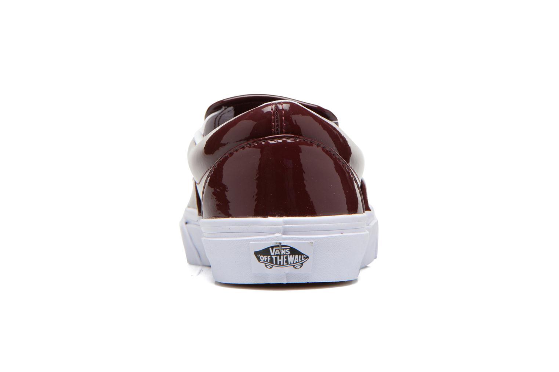 Sneaker Vans Classic Slip-On W weinrot ansicht von rechts