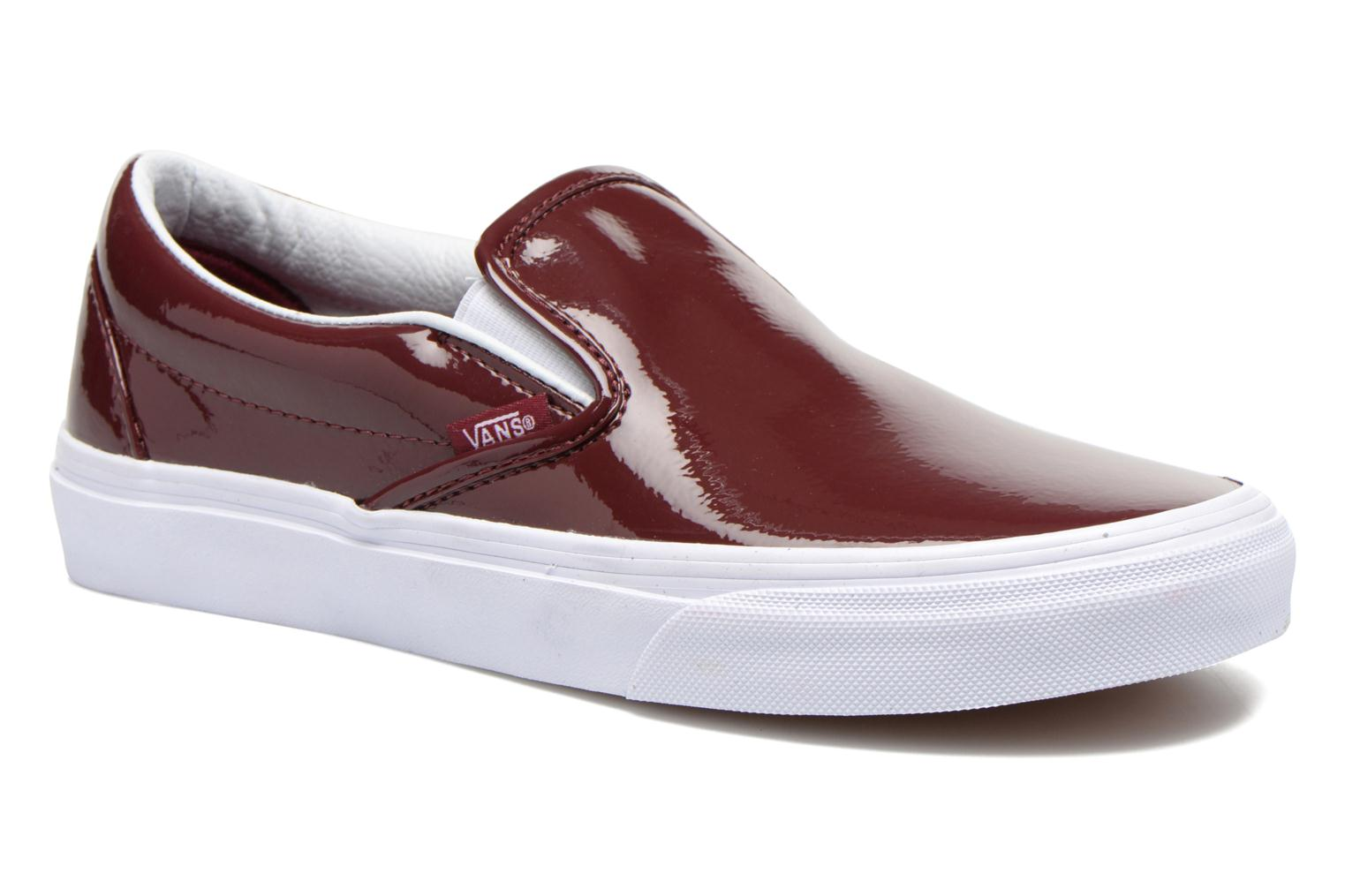 Baskets Vans Classic Slip-On W Bordeaux vue détail/paire