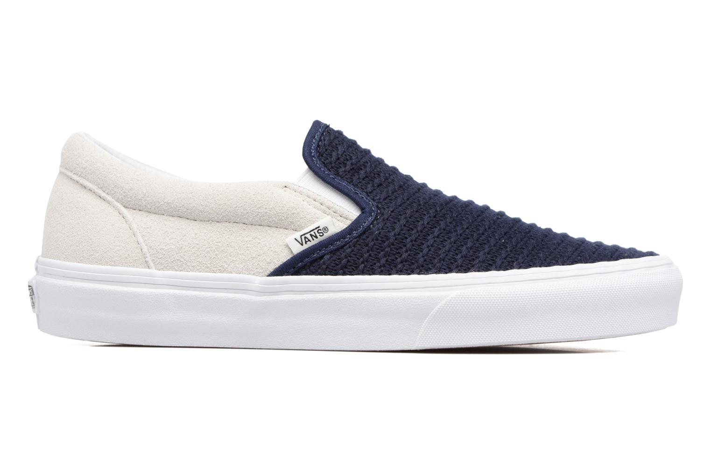 Baskets Vans Classic Slip-On W Bleu vue derrière