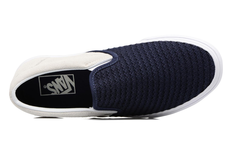 Baskets Vans Classic Slip-On W Bleu vue gauche