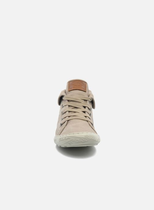 Baskets P-L-D-M By Palladium Gaetane Twl Beige vue portées chaussures