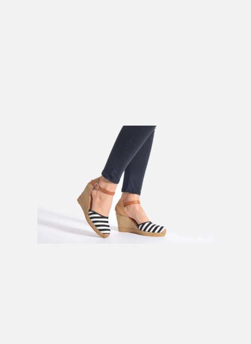 Sandales et nu-pieds Georgia Rose Ipona Bleu vue bas / vue portée sac