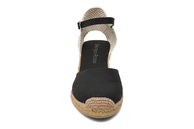 Sandales et nu-pieds Georgia Rose Ipona Noir vue portées chaussures