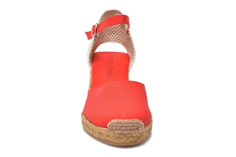 Sandalen Georgia Rose Ipona rot schuhe getragen