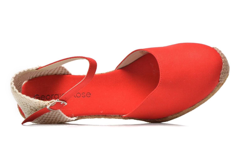 Sandalen Georgia Rose Ipona rot ansicht von links