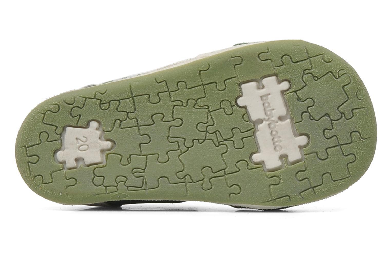 Sandales et nu-pieds Babybotte PANPI Vert vue haut