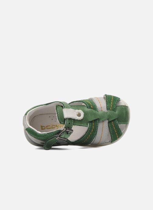 Sandalen Babybotte GIOVANI grün ansicht von links