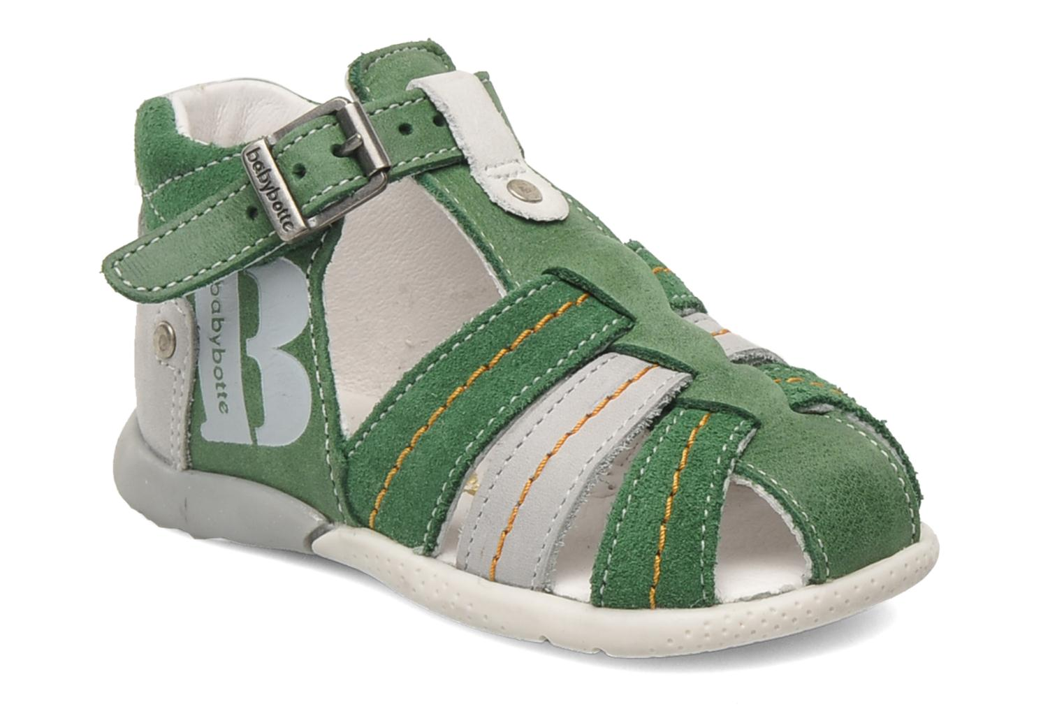 Sandals Babybotte GIOVANI Green detailed view/ Pair view