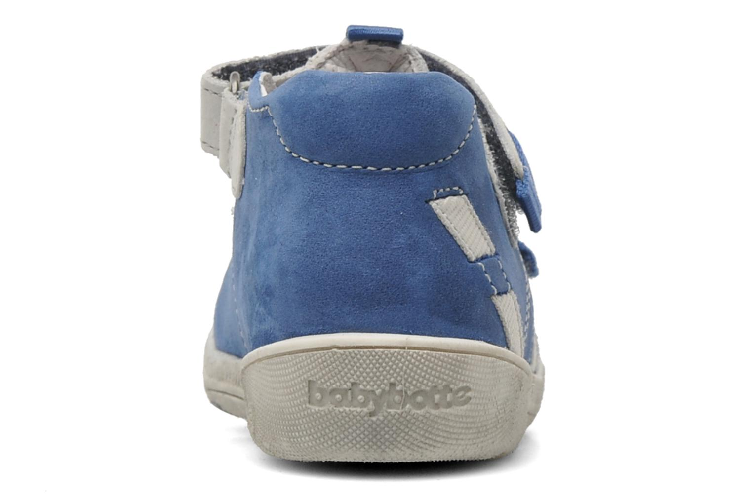 Velcro shoes Babybotte STYLI Blue view from the right