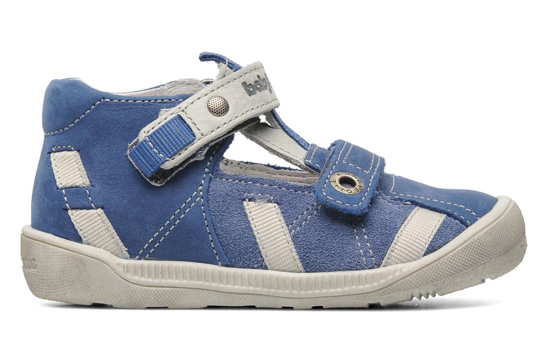 Velcro shoes Babybotte STYLI Blue back view