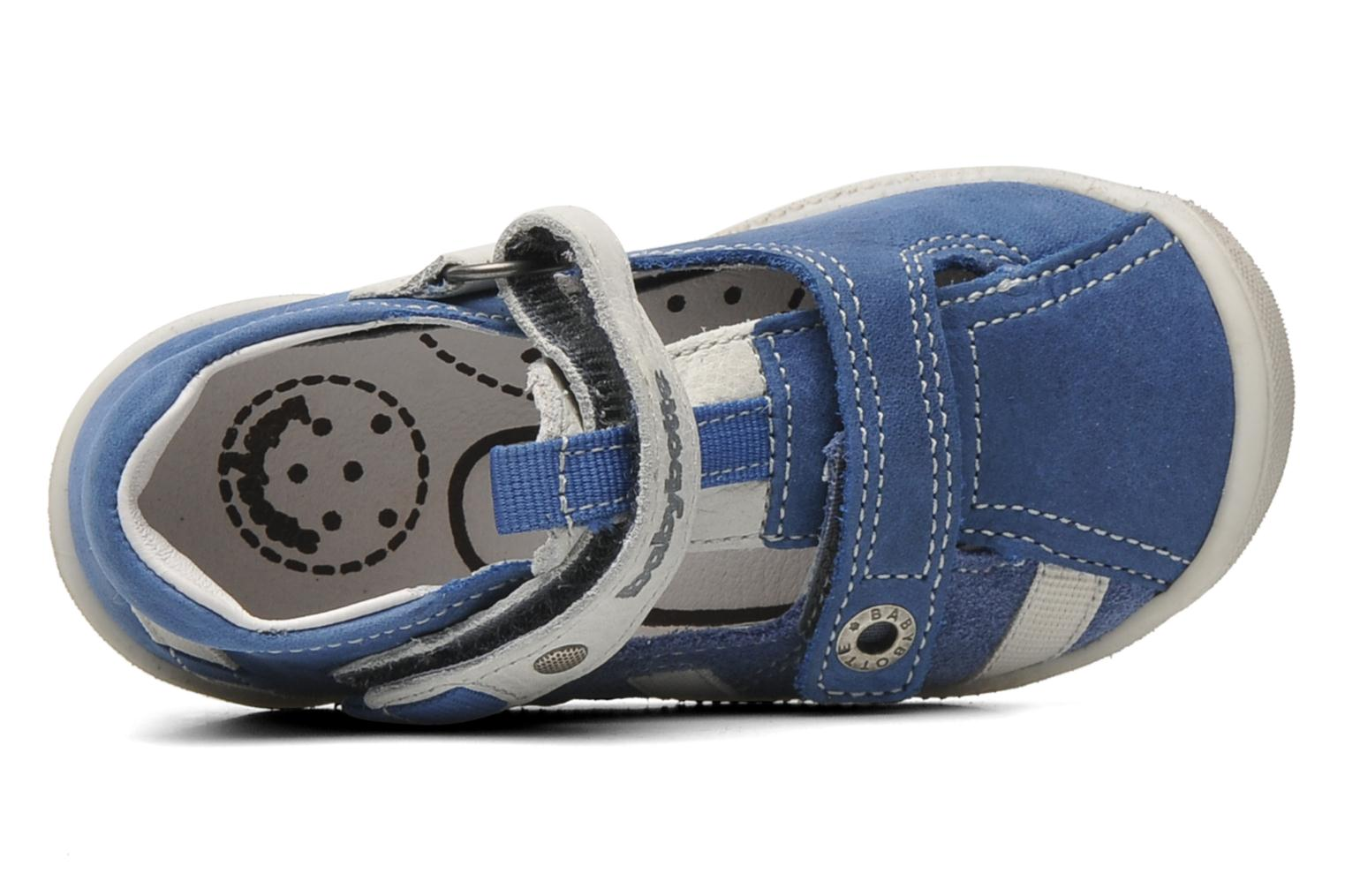Velcro shoes Babybotte STYLI Blue view from the left