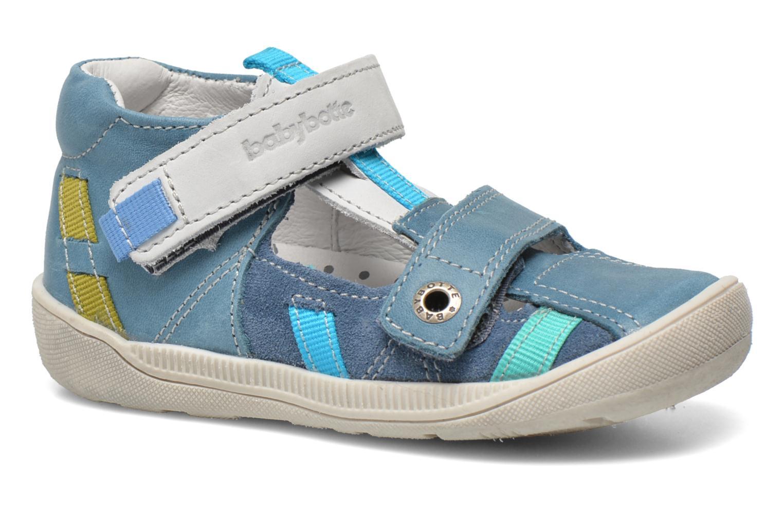 Chaussures à scratch Babybotte STYLI Bleu vue détail/paire