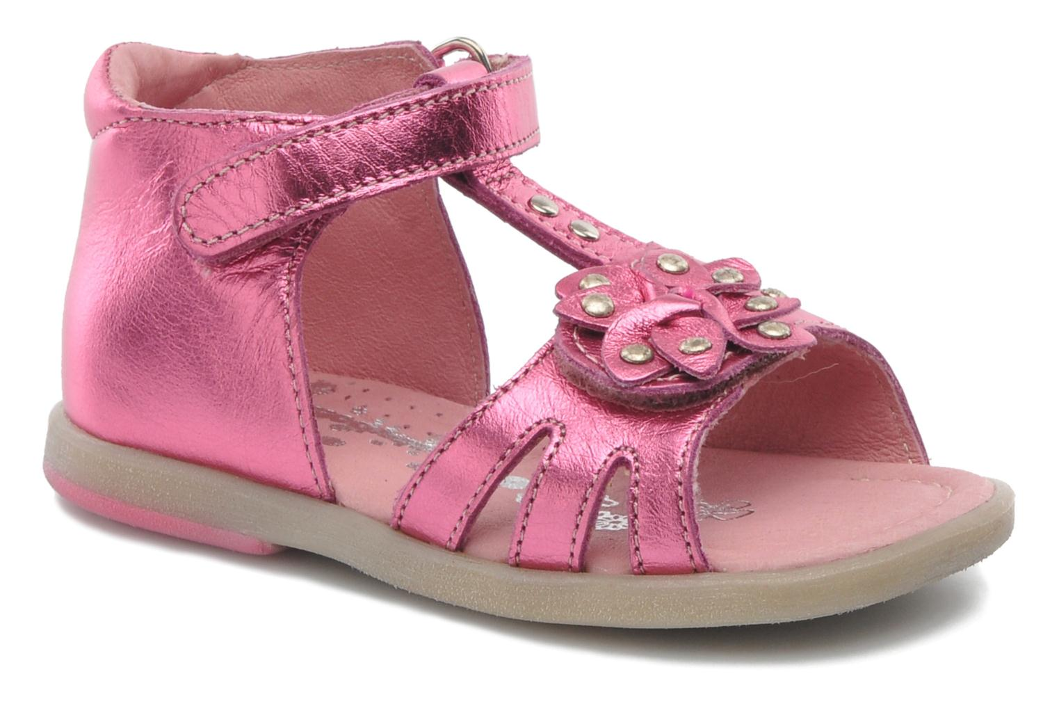 Sandals Babybotte TAHIS Pink detailed view/ Pair view