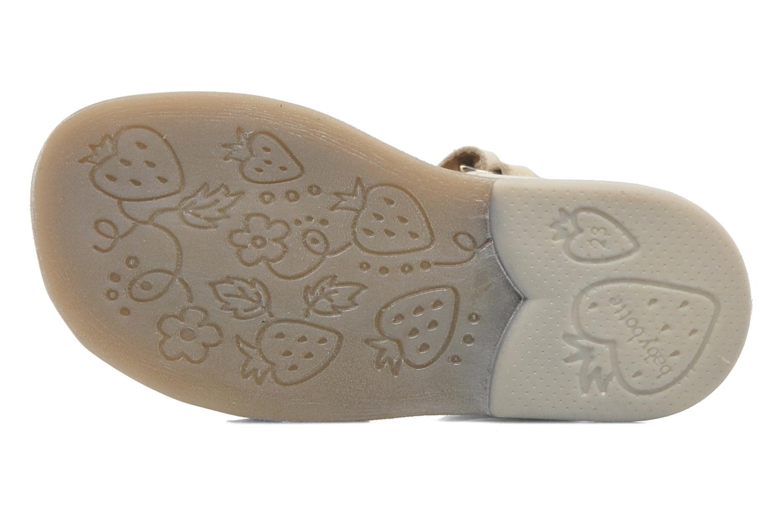 Sandales et nu-pieds Babybotte TAHIS Or et bronze vue haut