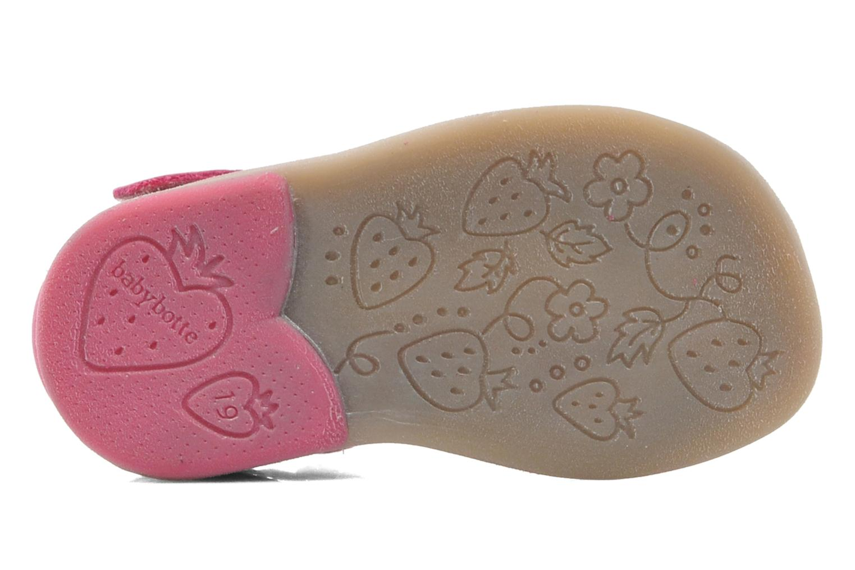 Sandalias Babybotte TZARINE Rosa vista de arriba