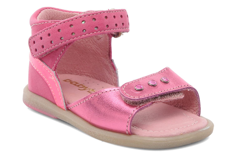 Sandales et nu-pieds Babybotte TZARINE Rose vue détail/paire