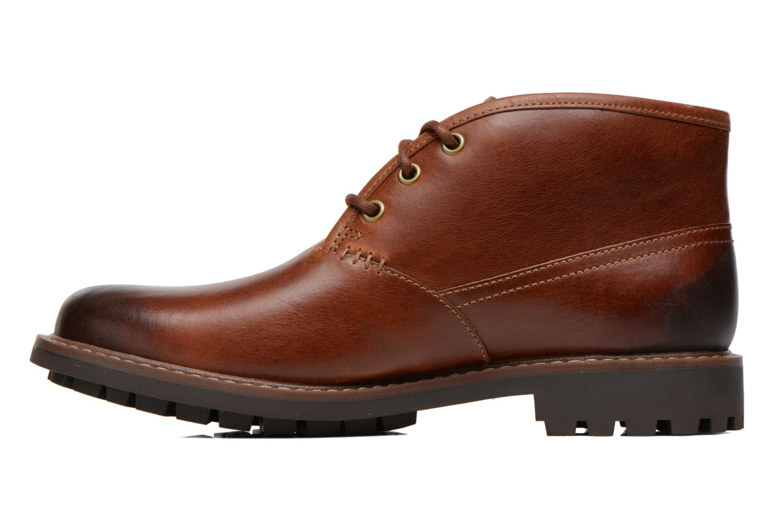 Chaussures à lacets Clarks Montacute Duke Marron vue face