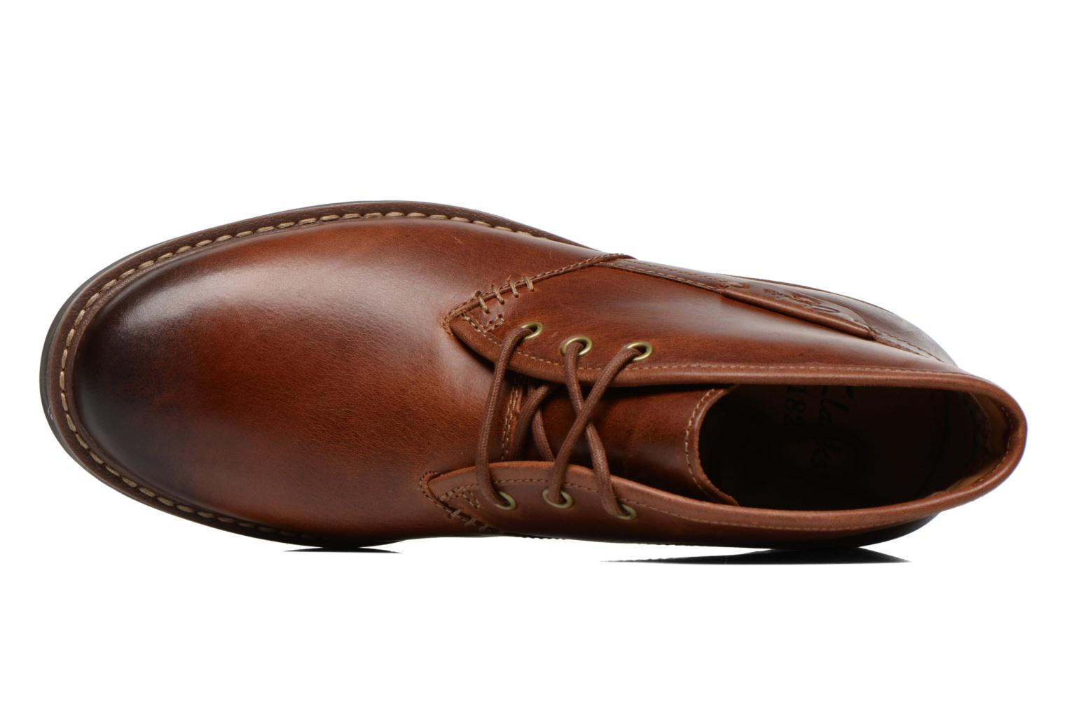 Lace-up shoes Clarks Montacute Duke Brown view from the left