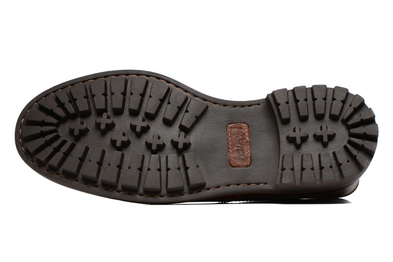 Chaussures à lacets Clarks Montacute Duke Marron vue haut