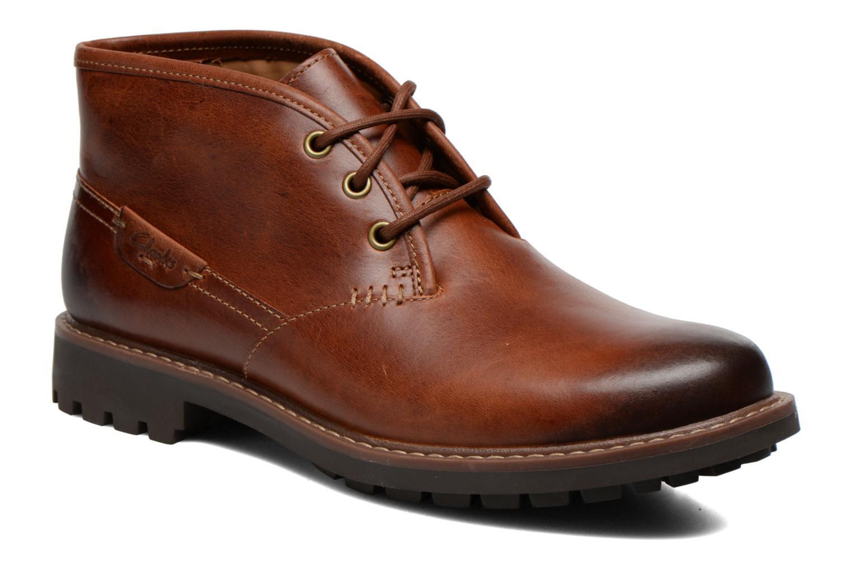 Chaussures à lacets Clarks Montacute Duke Marron vue détail/paire