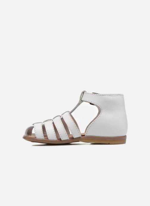 Sandales et nu-pieds Little Mary Jules Blanc vue face