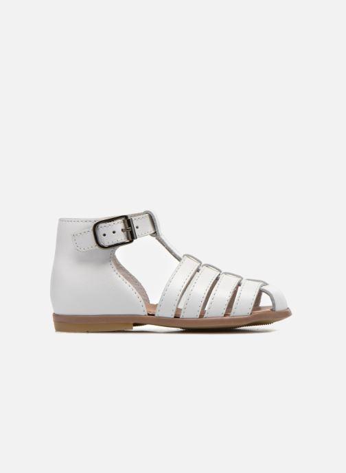 Sandales et nu-pieds Little Mary Jules Blanc vue derrière