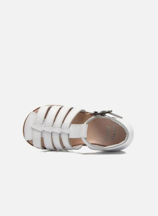 Sandalias Little Mary Jules Blanco vista lateral izquierda