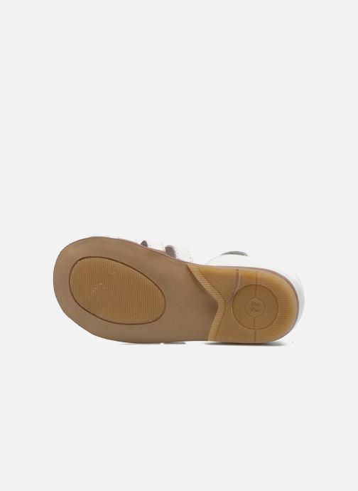 Sandales et nu-pieds Little Mary Jules Blanc vue haut