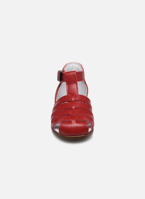 Sandales et nu-pieds Little Mary Jules Bordeaux vue portées chaussures