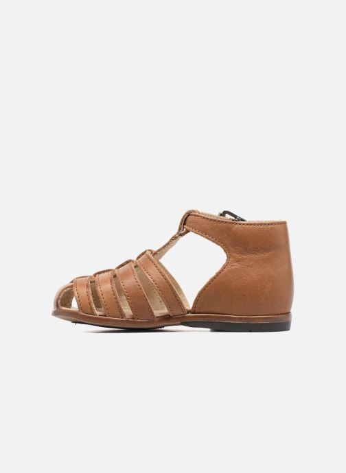 Sandales et nu-pieds Little Mary Jules Marron vue face