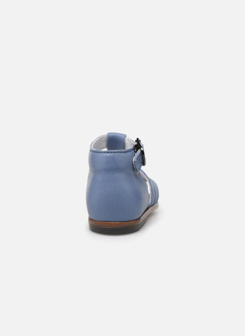 Sandalias Little Mary Jules Azul vista lateral derecha